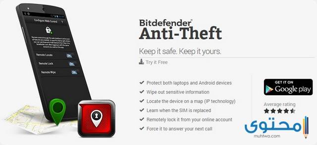 تطبيق Bitdefender Anti-Theft