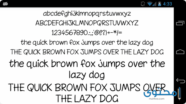 تطبيق Fonts for FlipFont 50 Written
