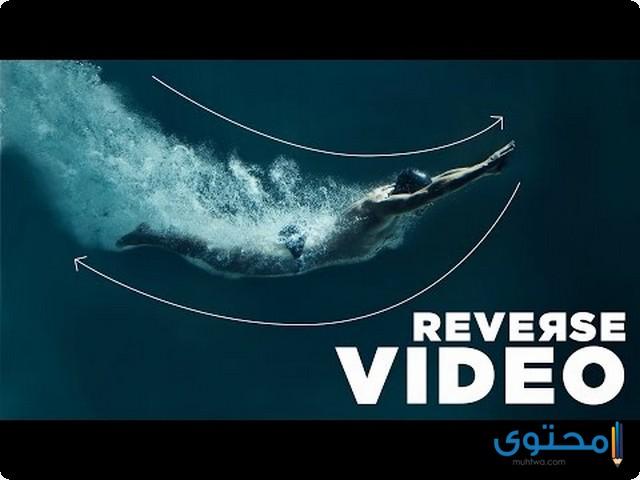 تطبيق Reverse video