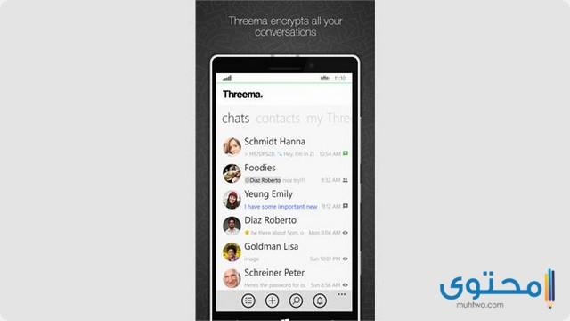 تطبيق Threema