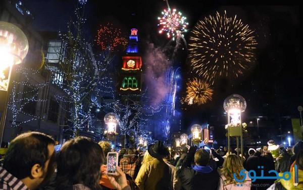 مظاهر الإحتفال برأس السنة الميلادية