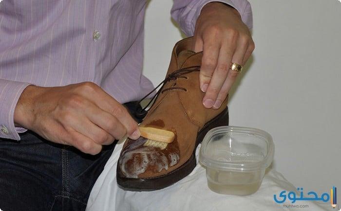 تنظيف حذاء الشامواه