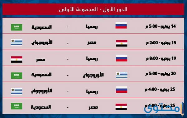مباريات مصر في كأس العالم 2018