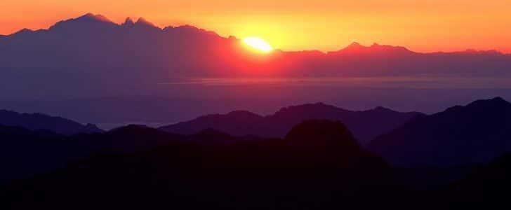 افضل اماكن لمشاهدةشروق وغروب الشمس