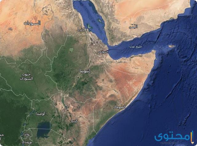 خريطة إثيوبيا
