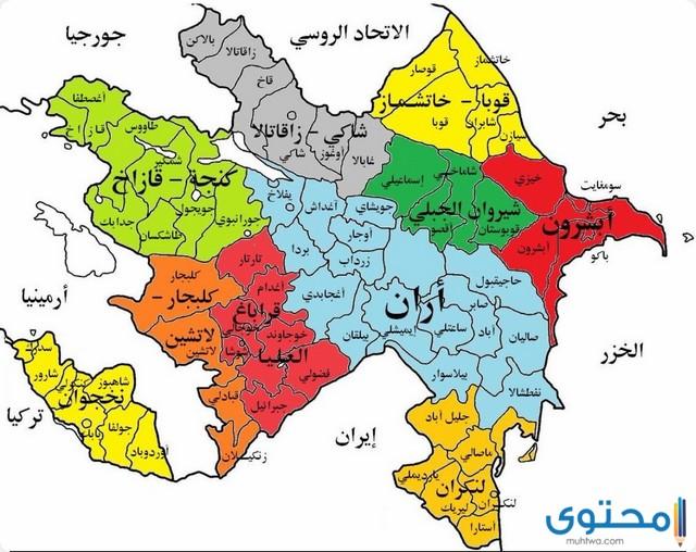 خريطة اذربيجان