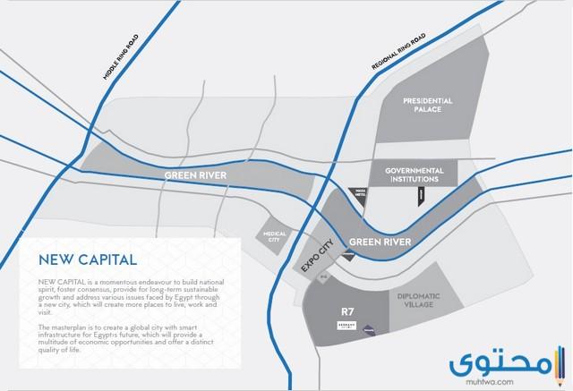خريطة الحي السكني السابع
