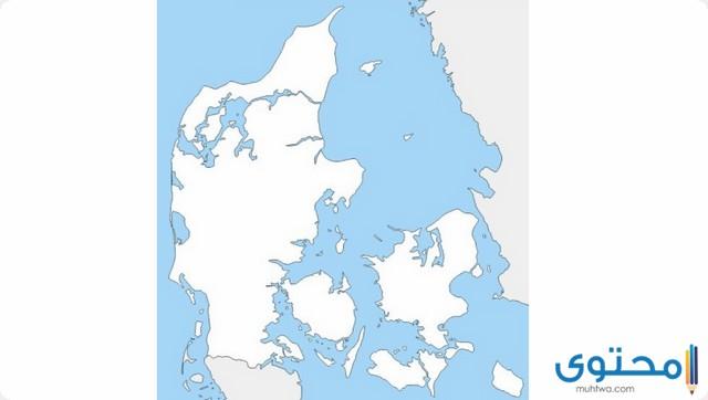 خريطة الدنمارك