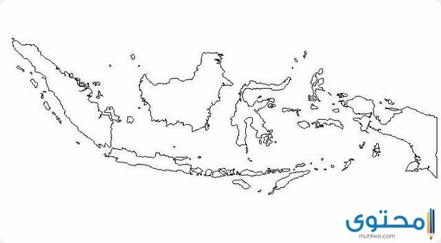 خريطة اندونيسيا والدول