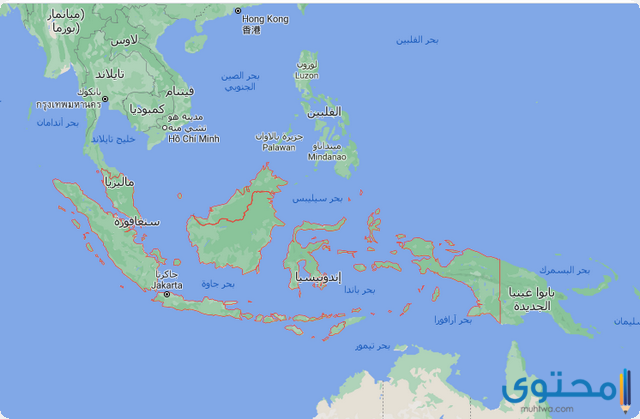 خريطة اندونيسيا والدول المجاورة بالعربي موقع محتوى