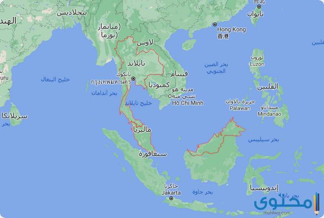 خريطة تايلاند