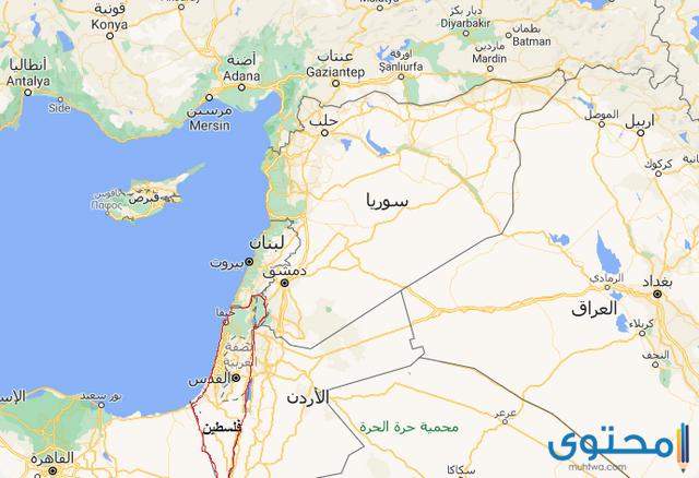 خريطة سوريا
