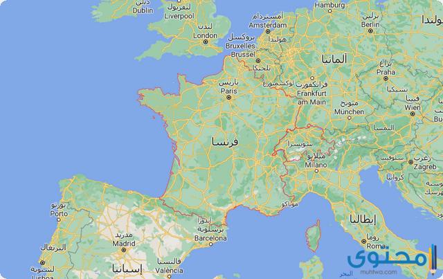 خريطة سويسرا