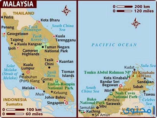 خريطة ماليزيا