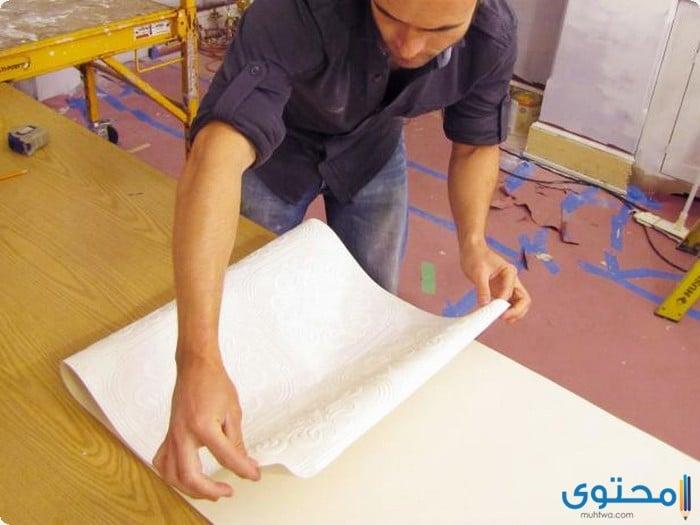 خطوات تركيب ورق الحائط بنفسك