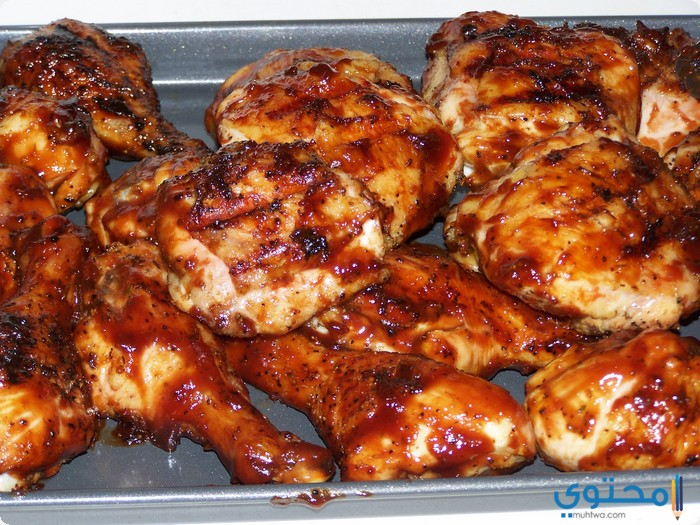 دجاج بالصلصة الحمراء