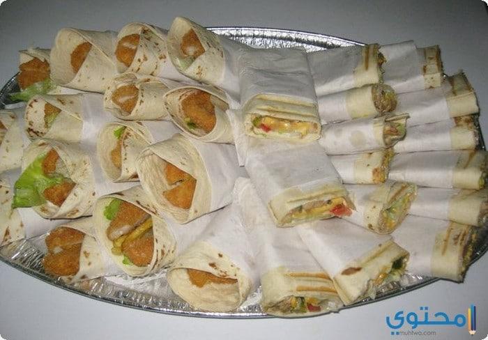 دجاج مكسيكى بخبز التورتيلا