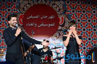 بالصور محمد عباس ورنا سماحة يفتتحان أولى حفلات مهرجان الأوبرا