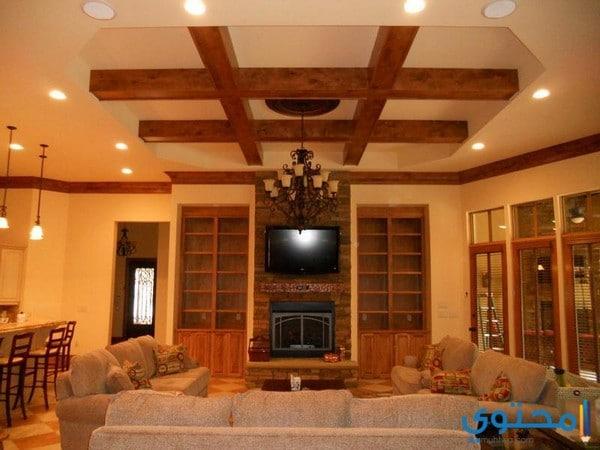 ديكورات أسقف معلقة خشبية