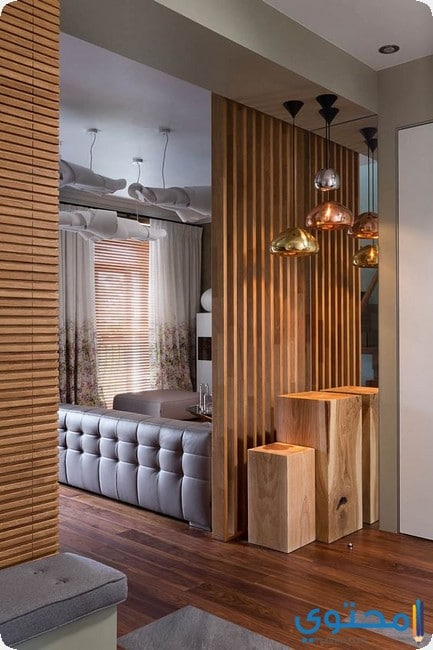 10 Creative Examples For Dividing Small Spaces: ديكورات خشبية جديدة 2019