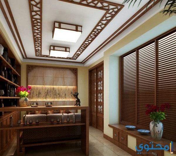 تصاميم وديكورات أسقف خشبية مفرغة