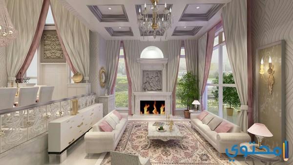 ديكورات سعودية غرفة الصالة