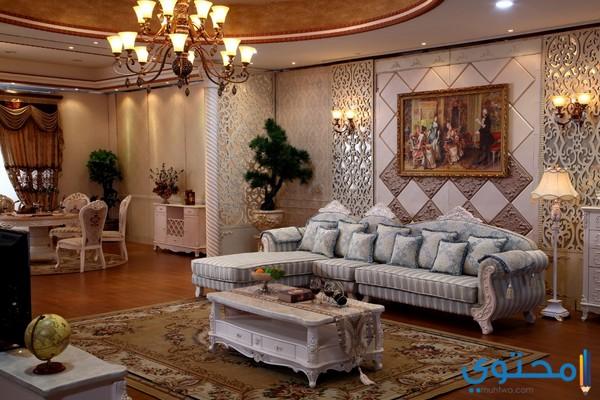 ديكورات سعودية لغرفة الصالة