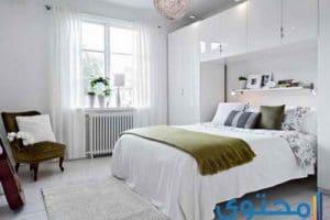 ديكور وأشكال غرف نوم باللون الأبيض
