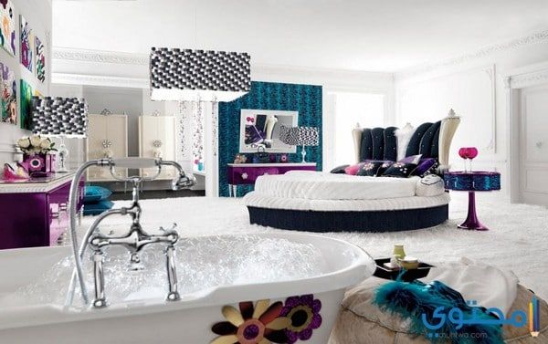غرف نوم بيضاء للعرسان