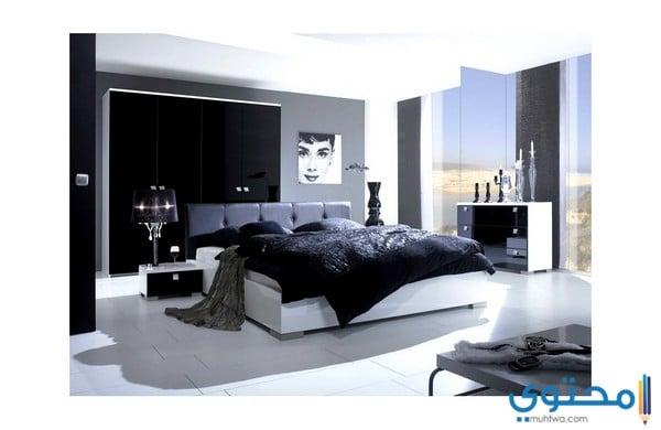 تصميمات غرف نوم بيضاء كلاسيك