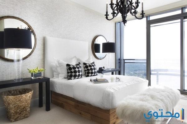 أحدث ديكورات غرف النوم البيضاء