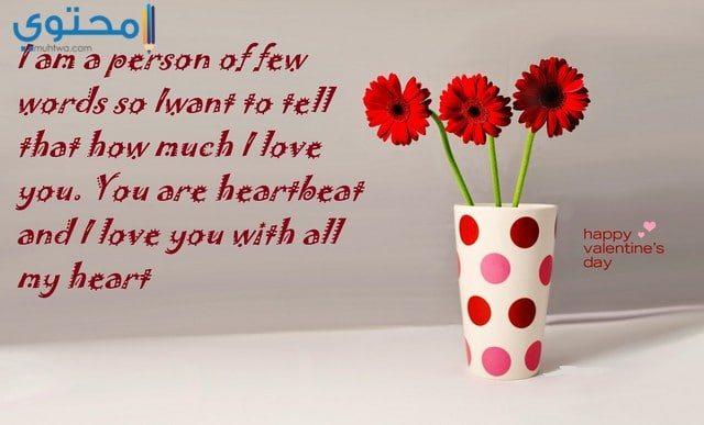 رسائل عيد الحب مصورة