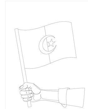 رسومات علم الجزائر للتلوين