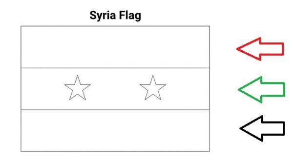 رسومات علم سوريا للتلوين