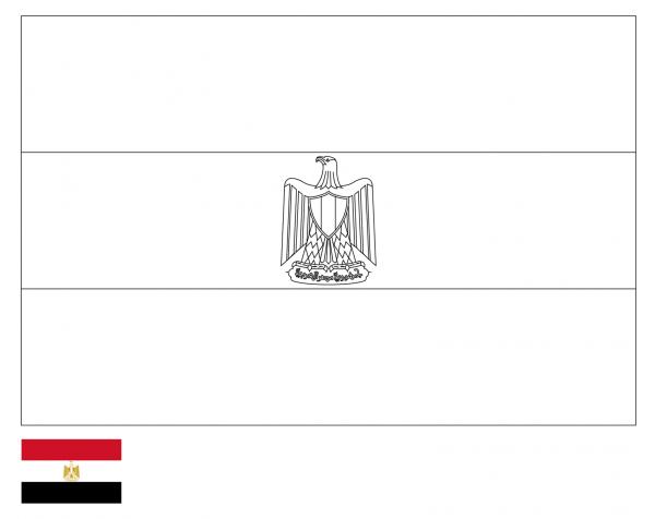 رسومات علم مصر للتلوين