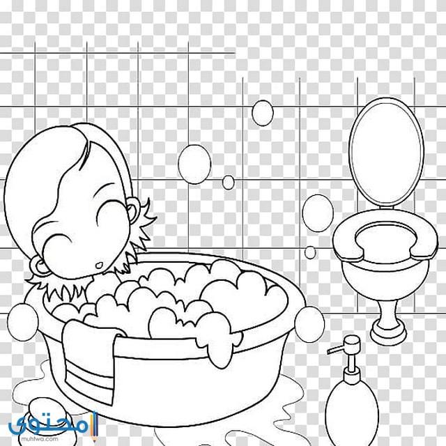 رسومات للتلوين عن النظافة الشخصية