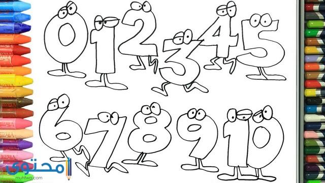 رسومات للتلوين ارقام