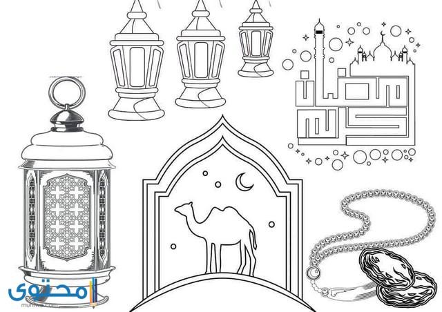 اجمل رسومات اسلامية للتلوين
