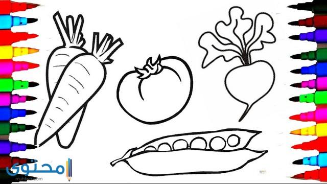 رسومات تلوين خضروات