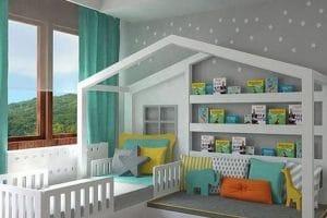 تصميمات غرف الأطفال الضيقة 2018