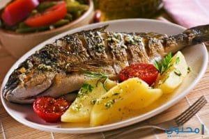 طريقة عمل سمك البربون فى الفرن