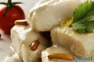 طريقة عمل صينية سمك بالطحينة والبطاطس