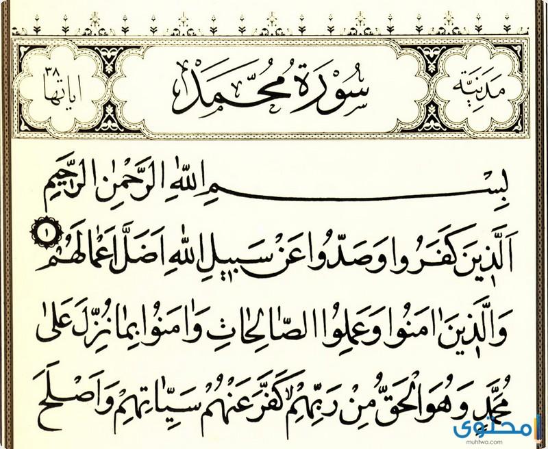 فضل سورة محمد