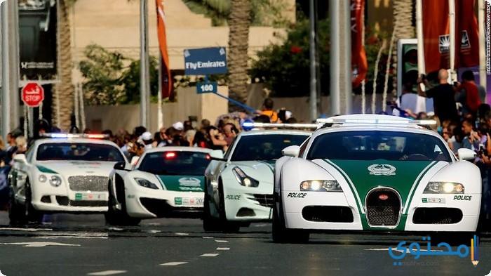 سيارات الشرطة في دبي
