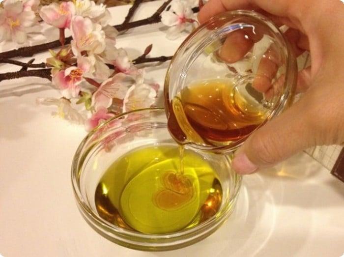 خلطة زيت الزيتون مع العسل