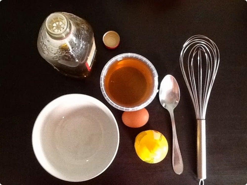وصفة البيض مع العسل وزيت الزيتون