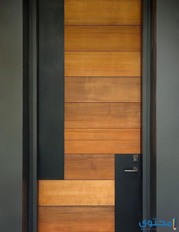 صور أبواب خشب للغرف مودرن