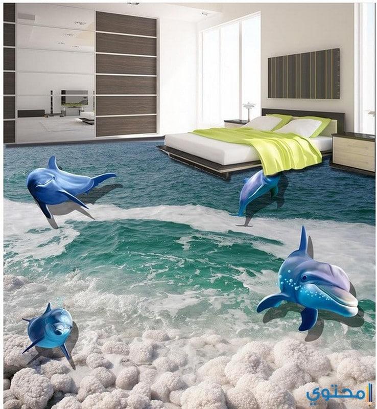 أشكال أرضيات 3d جديدة لغرفة النوم