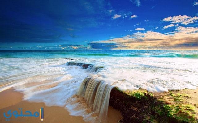 منظر بحر طبيعي