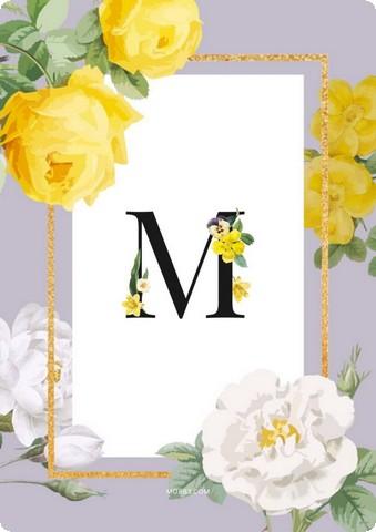 صور حرف M
